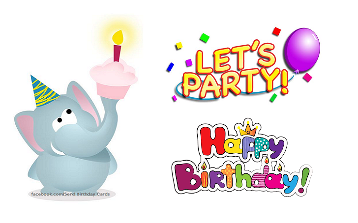 Birthday Cards | Happy Birthday - Let's party!