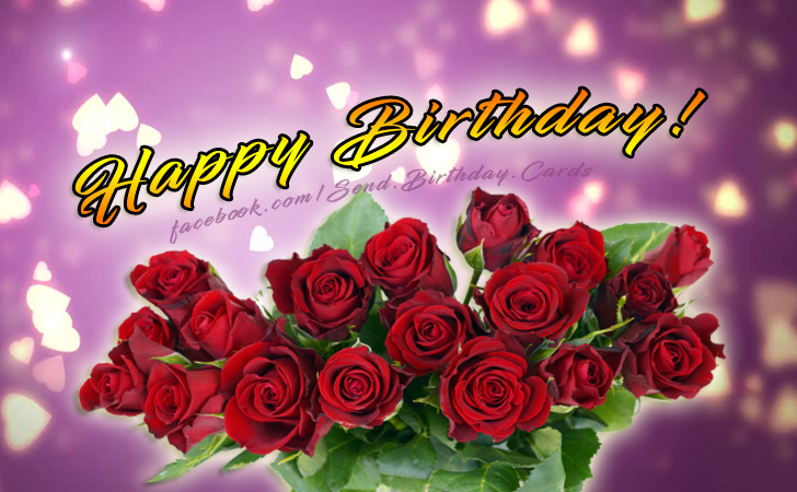 Happy Birthday Card with rose flowers Image | Birthday Cards