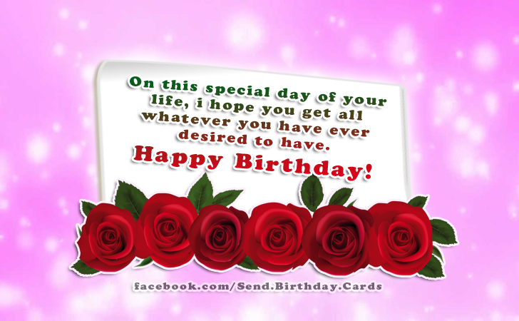 On this special day of your life... - Happy Birthday Cards, Images & Wishes