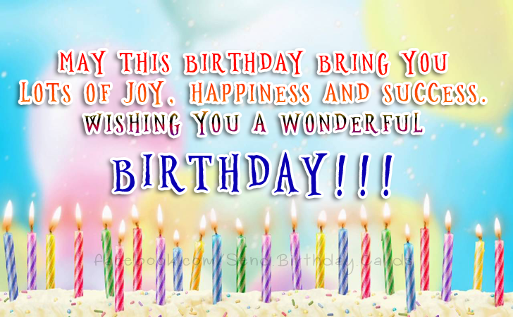 Happy Birthday Cards Images - Wishing you a wonderful birthday.