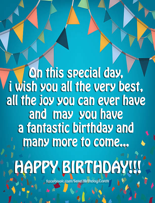 Happy Birthday Cards Images - On this special day...