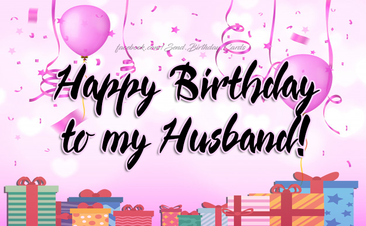 Happy Birthday To My Husband Cards Images