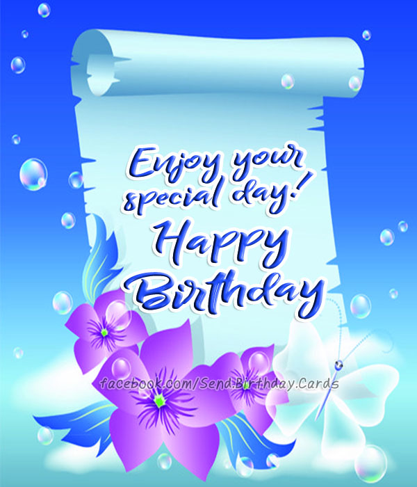 Birthday Cards Images | Happy Birthday Images | Enjoy your 