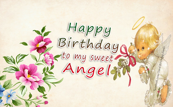 Happy Birthday Cards Images - Happy  Birthday to my sweet Angel