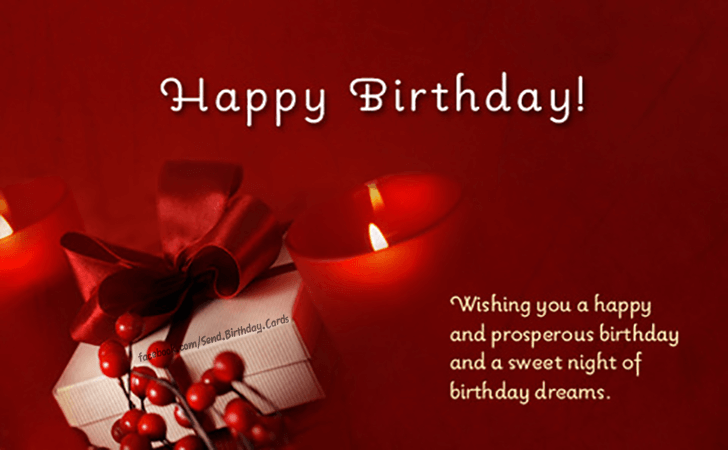 Happy Birthday Cards Images | Whising you a happy and prosperous birthday...