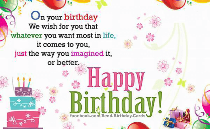 Happy Birthday Cards Images - On your birthday We wish for you...