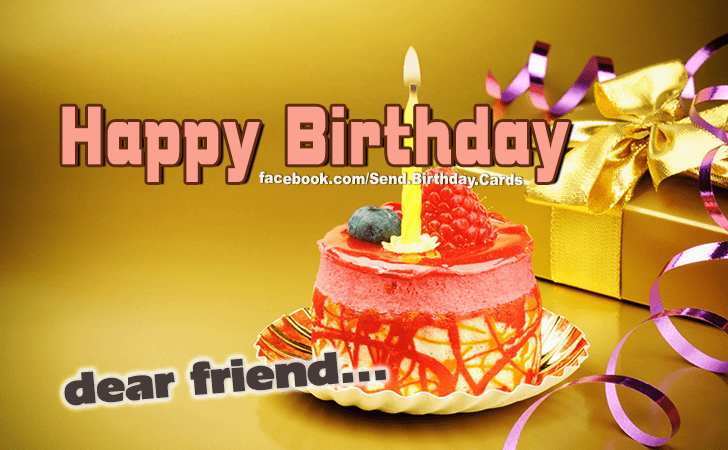 Best wishes to my dear friend! - Birthday Cards, Happy Birthday Images