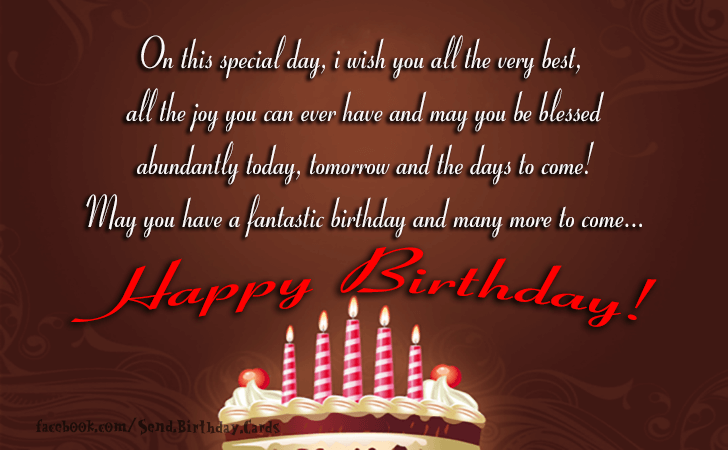 Birthday Cards Images | On this special day, i wish you...