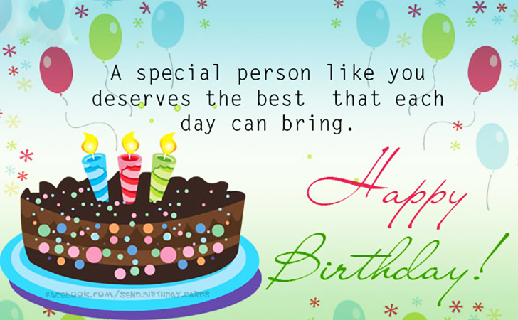 Birthday Cards – Special Birthday Cards for Someone Special