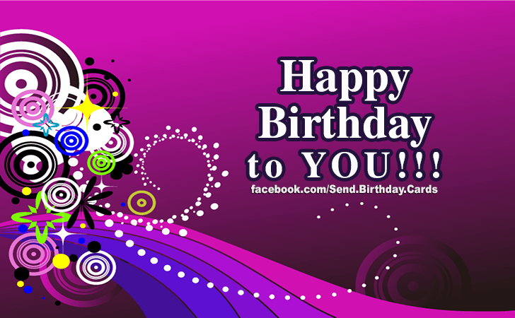 Happy Birthday Cards Images - To YOU!