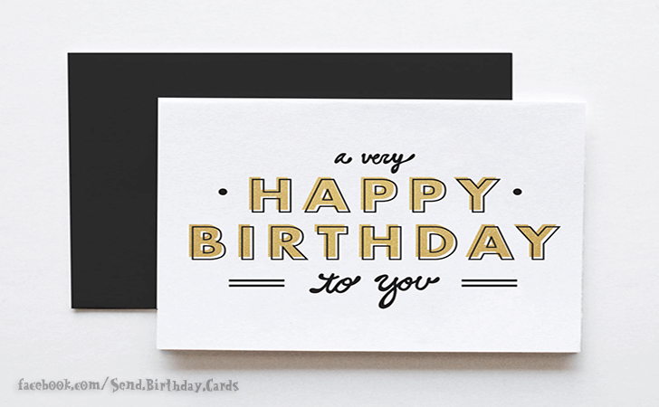 Happy Birthday Cards Images | A very...