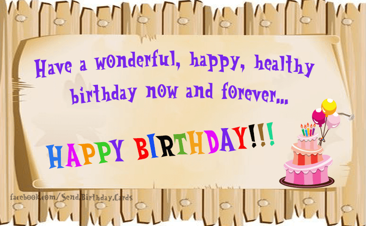 Happy Birthday Cards Images | Have a wonderful, happy...