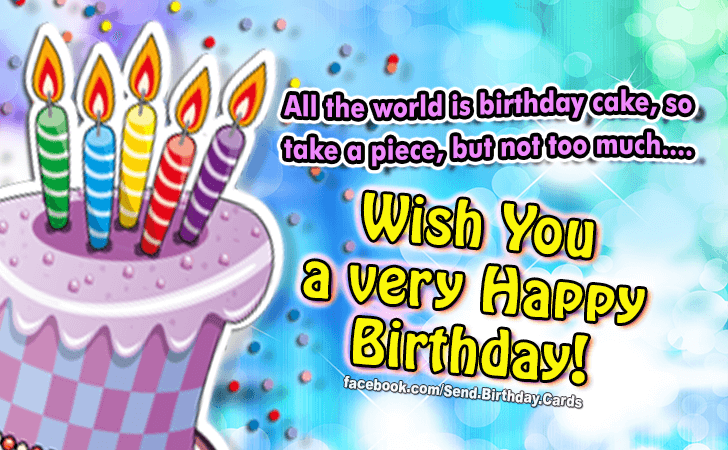 Birthday Cards Wish You A Very Happy Birthday Wish You A Happy Birthday