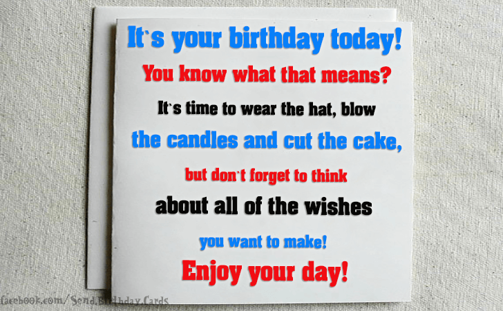 Happy Birthday Cards Images | Its your birthday today...
