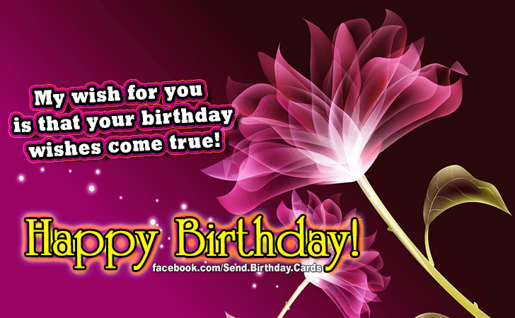 Happy Birthday Cards Images - My wish...