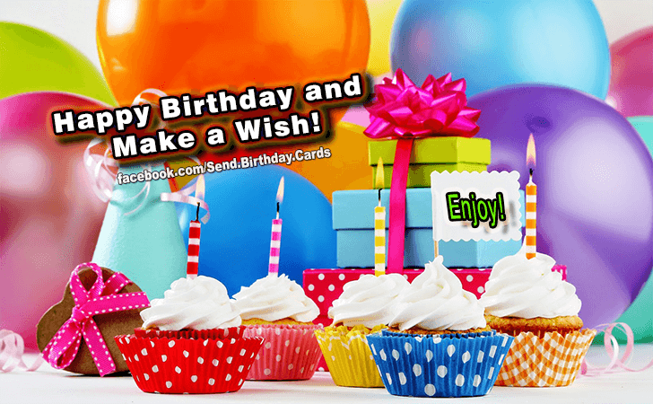 Happy Birthday Cards Images - Make A Wish!