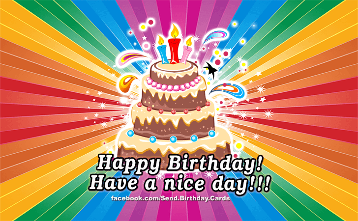 Have A Nice Day! - Birthday Images