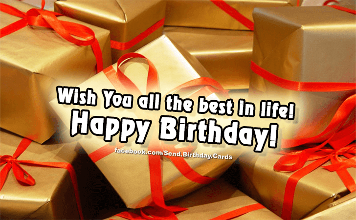 Birthday Cards Images | Wish you all the best!