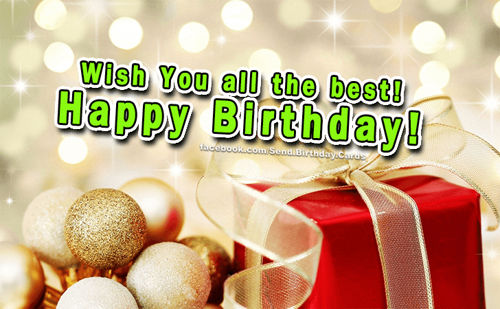 Happy Birthday Cards Images - Wish you all the best!!!