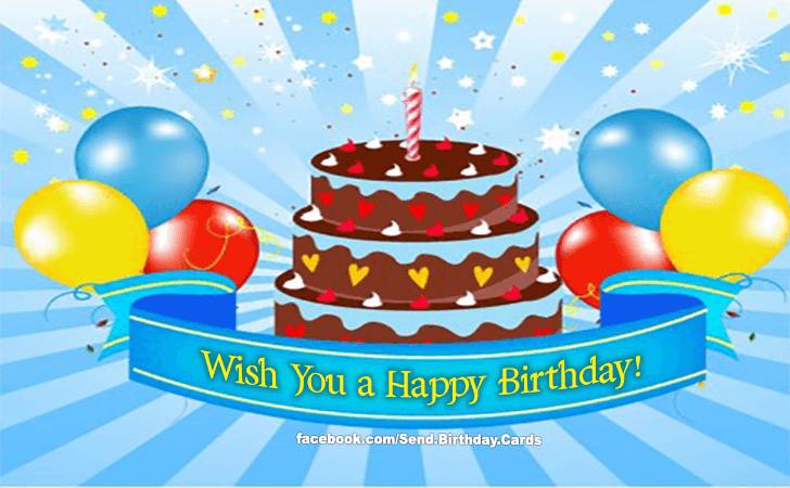 Happy Birthday Cards Images - Wish You a