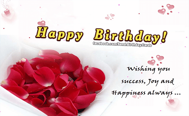 Birthday Cards | Wishing you success...