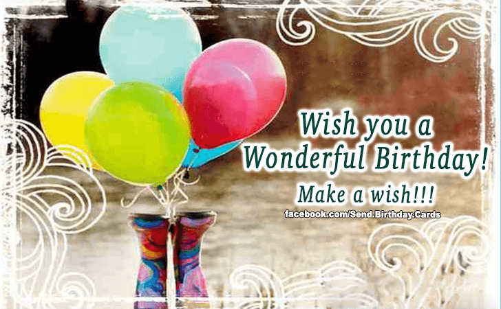 Happy Birthday Cards Images - Make a wish!!!