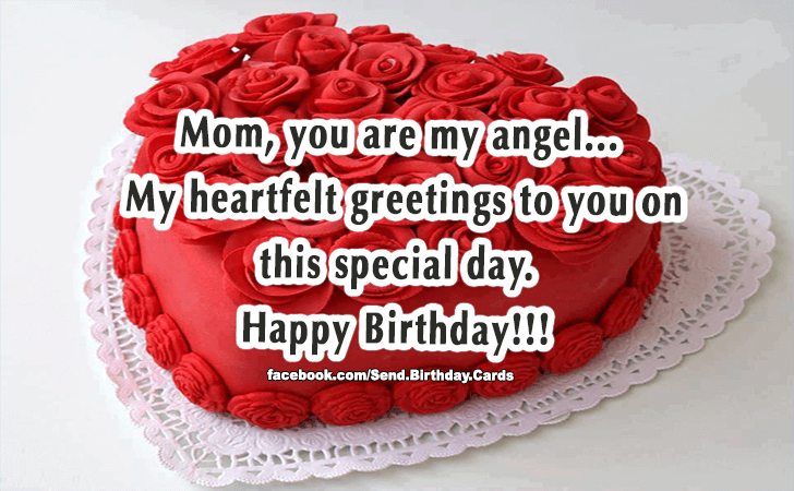 Happy Birthday Cards Images | Mom, you are my angel!