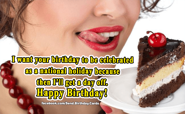 Birthday Cards Images | I want your birthday to be celebrated...