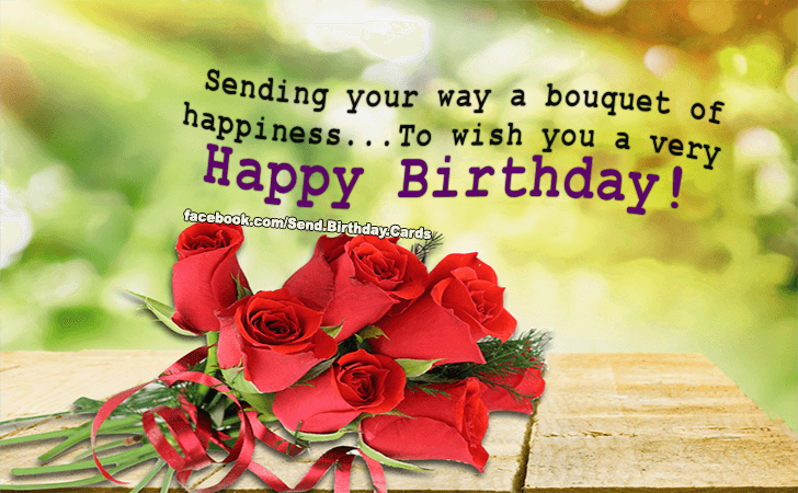 Birthday Cards | Sending your way a bouquet of happiness...