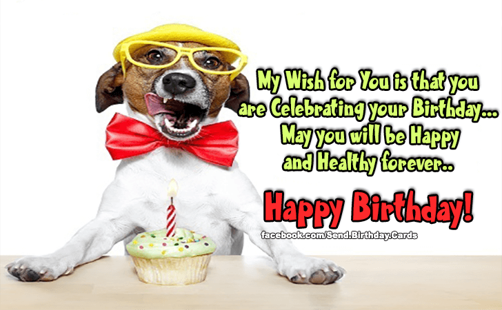 Birthday Cards | My Wish for You is that you are...