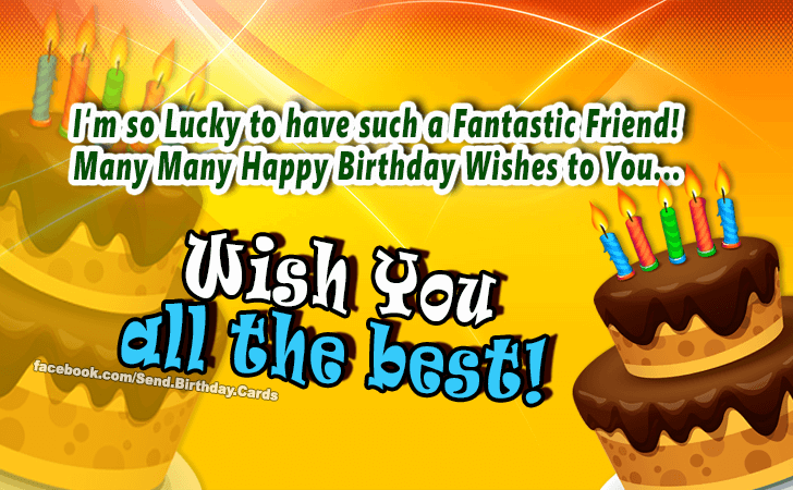 Birthday Cards | Wish You all the best!
