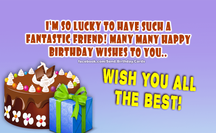 Happy Birthday Cards Images - Wish You all the Best!