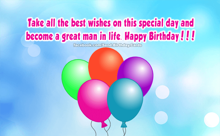 Happy Birthday Cards Images | Take all the best wishes...