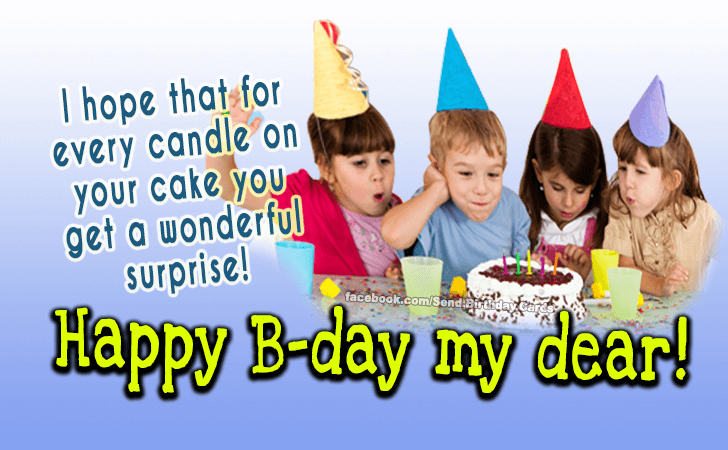 Happy Birthday Cards Images - I hope that for every candle...