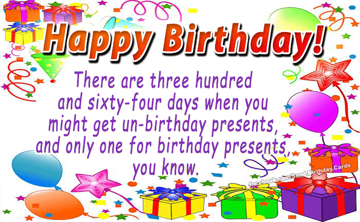 Happy Birthday Cards Images - There are three hundred and...