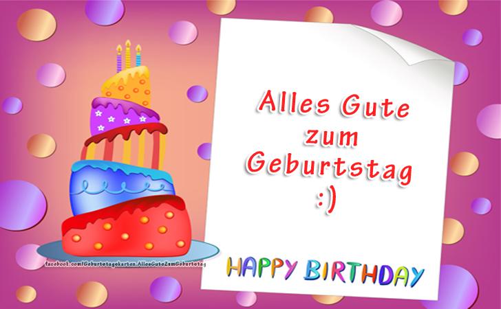 Geburtstagskarten | Alles Gute zum Geburtstag :) Happy Birthday