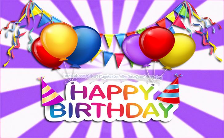 Geburtstagskarten   Happy Birthday