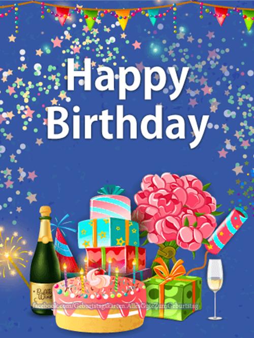 Geburtstagskarten | Alles Gute zum Geburtstag - Happy Birthday 🎂🎈💐