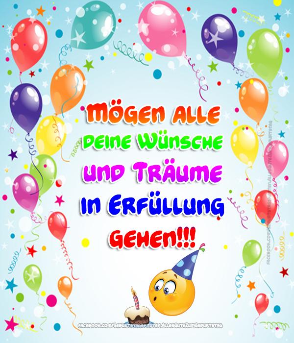 Geburtstagskarten | Mögen alle deine Wünsche und Träume in Erfüllung gehen!!! 🎈🎈🎈