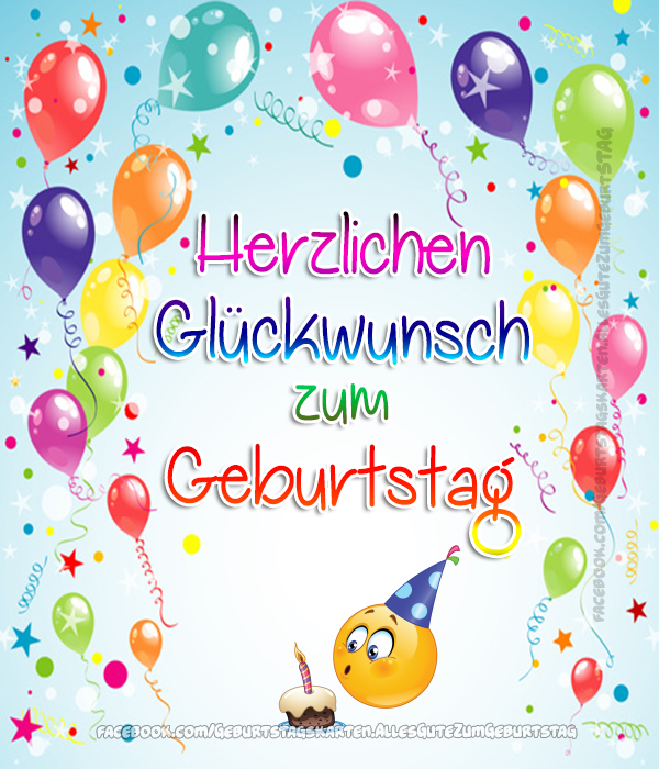 Geburtstagskarten | Herzlichen Glückwunsch zum Geburtstag 🎈🍀