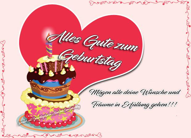 Geburtstagskarten | Alles Gute zum Geburtstag - Mögen alle deine Wünsche und Träume in Erfüllung gehen!!!