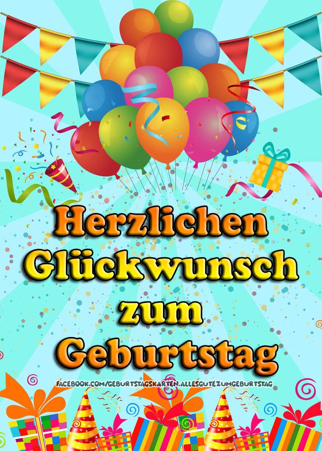 Geburtstagskarten | Herzlichen Glückwunsch zum Geburtstag 🎈🎂🎁
