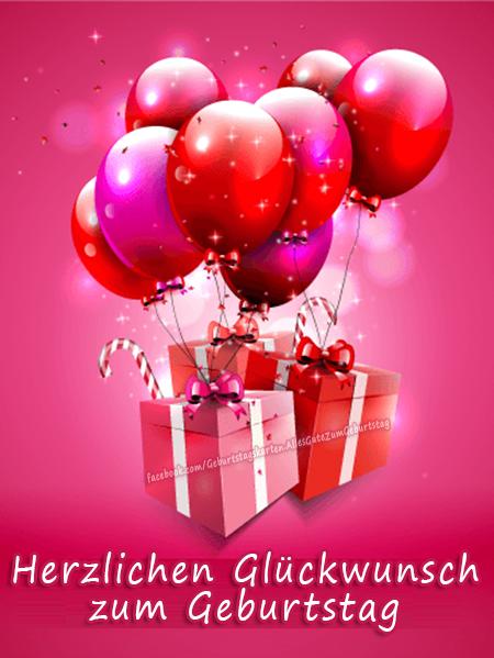 Geburtstagskarten | 🎈🎁 Herzlichen Glückwunsch zum Geburtstag 🎁🎈