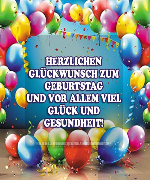 Geburtstagskarten | HERZLICHEN GLÜCKWUNSCH ZUM  GEBURTSTAG UND VOR ALLEM VIEL GLÜCK UND  GESUNDHEIT!