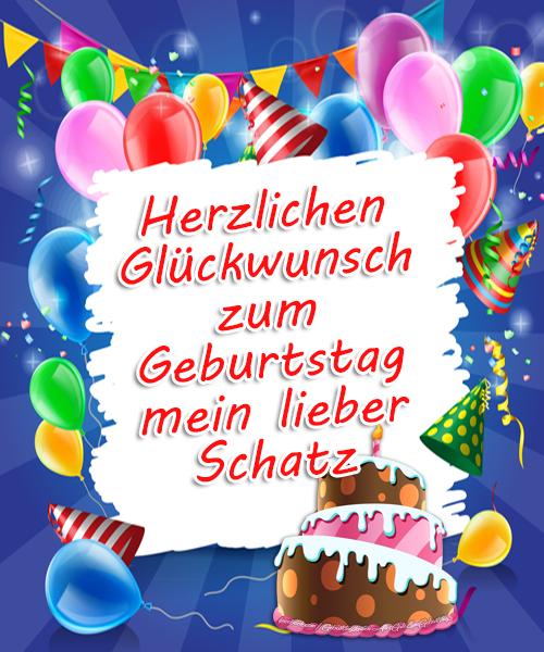 Geburtstagskarten | Herzlichen Glückwunsch zum Geburtstag mein lieber Schatz. Glückwünsche zum Geburtstag für Mein lieber Schatz