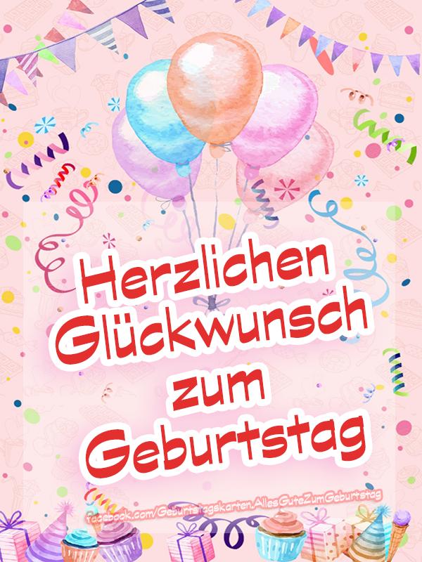 Geburtstagskarten | Herzlichen Glückwunsch zum Geburtstag 🥳🎈