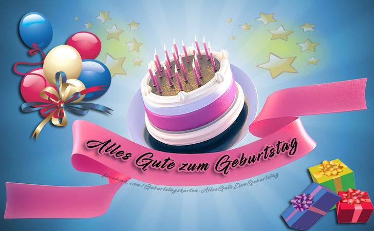 Geburtstagskarten   Alles Gute zum Geburtstag
