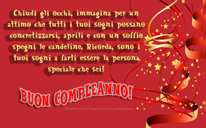 Molto Messaggi Di Auguri Di Buon Compleanno Speciali | Monroeknows WB68
