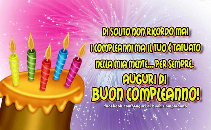 Preferenza Auguri di Buon Compleanno | Buon Compleanno QW13