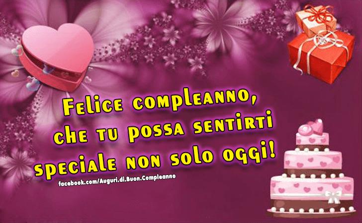 Popolare Auguri di Buon Compleanno | Che tu possa sentirti speciale PY15